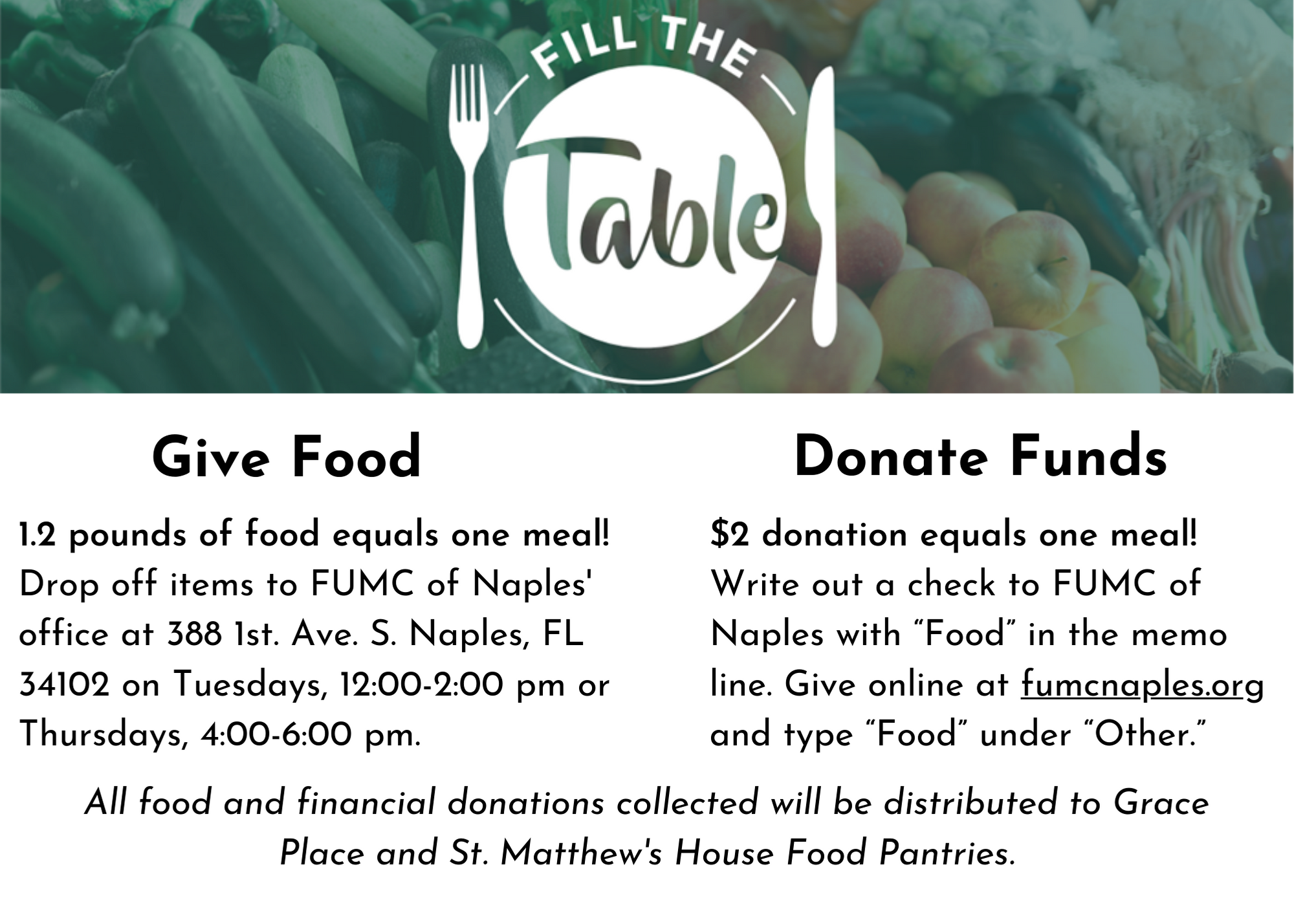 Fill The Table Graphic